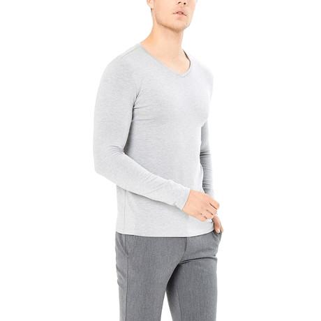 Dashiell Long Sleeve Shirt // Gray Melange (S)