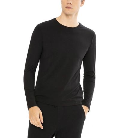 Django Long Sleeve Shirt // Black (S)