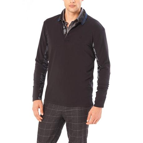 Edison Collared Shirt // Black (S)
