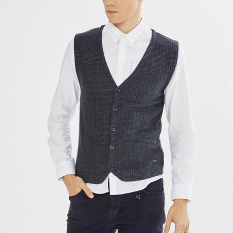 Atticus Vest // Navy Blue (S)