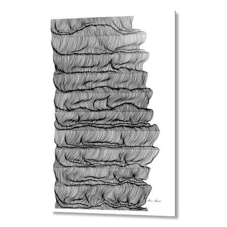 """wave after wave // Aluminum (16""""W x 1.5""""H x 24""""D)"""
