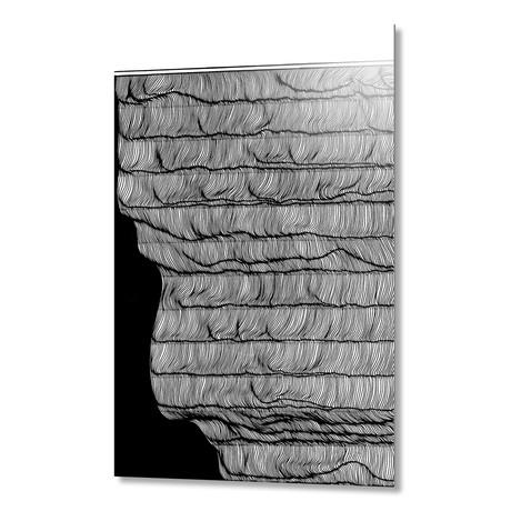 "Waves rollin // Aluminum (16""W x 1.5""H x 24""D)"