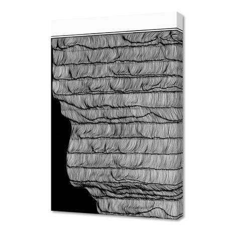 "Waves rollin // Canvas (16""W x 1.5""H x 24""D)"