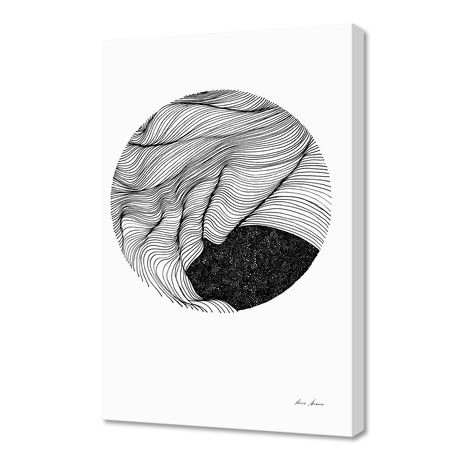 "Cosmic fold // Canvas (16""W x 1.5""H x 24""D)"