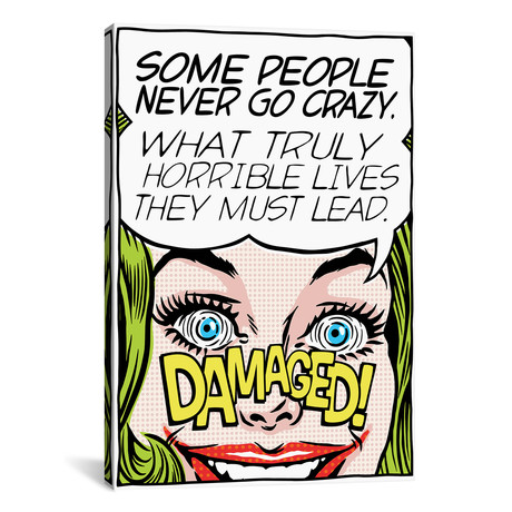 "Never Go Crazy // Butcher Billy (26""W x 18""H x 0.75""D)"