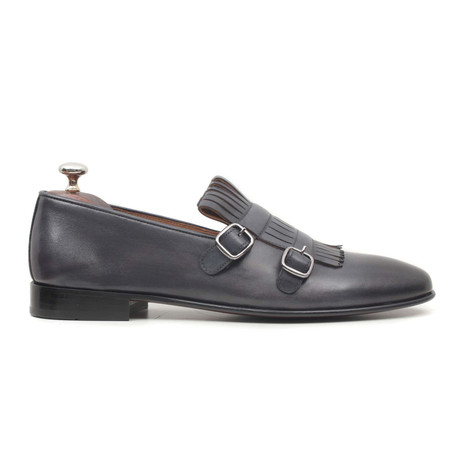 Gri Scala Double Monkstrap Loafer // Grey (Euro: 40)