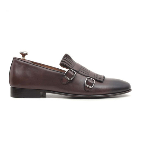 Kahve Scala Double Monkstrap Loafer // Brown (Euro: 40)