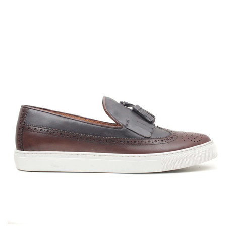 Kahve Alkollu Wingtip Slip-On // Brown (Euro: 40)