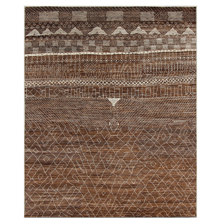 Marrakesh Collection // Contemporary Shag Wool Berber Rug II