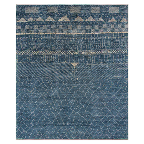 Marrakesh Collection // Contemporary Shag Wool Berber Rug