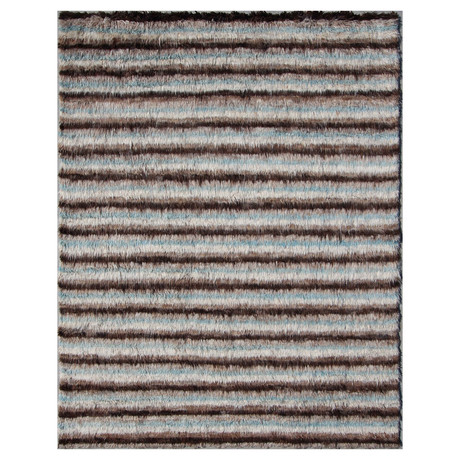 Marrakesh Collection // Linear Shag Wool Berber Rug