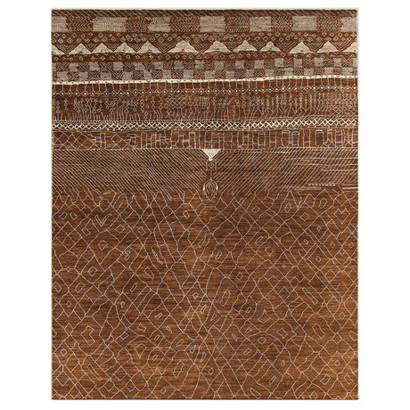 Marrakesh Collection // Contemporary Shag Wool Berber Rug I