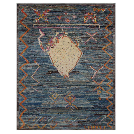 Marrakesh Collection // Abstract Wool Shag Berber Rug