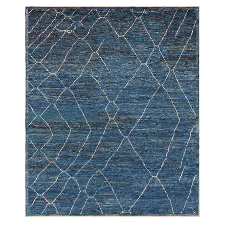Marrakesh Collection // Modern Wool Shag Berber Rug