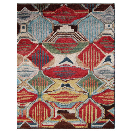 Marrakesh Collection // Vibrant Wool Shag Berber Rug I