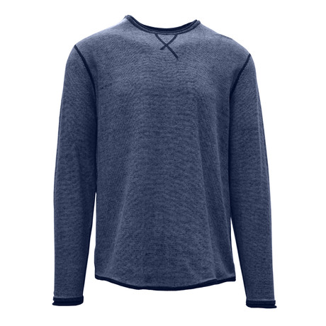 Kearney Long Sleeve Sweater // Navy + Cool Gray (S)