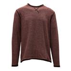 Kearney Long Sleeve Sweater // Terracotta + Silk White (S)