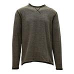 Kearney Long Sleeve Sweater // Tactical Green + Silk White (S)