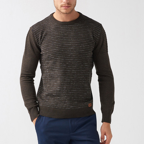 Bryon Tricot Sweater // Brown (S)