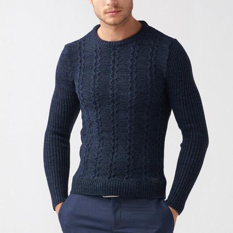 Jarod Tricot Sweater // Dark Blue (S)
