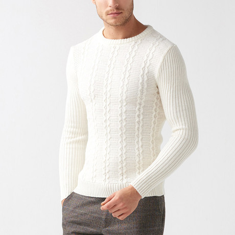 Jarod Tricot Sweater // Ecru (S)
