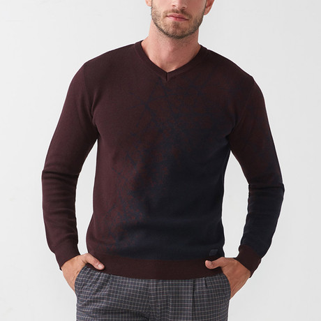 Roscoe Tricot Sweater // Claret Red (S)