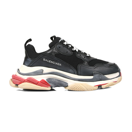Tripple S Sneakers // Black + Red (Euro: 41)