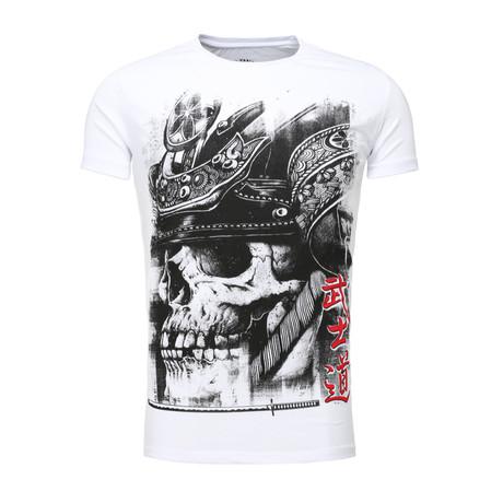 Skull T-Shirt // White + Black (S)
