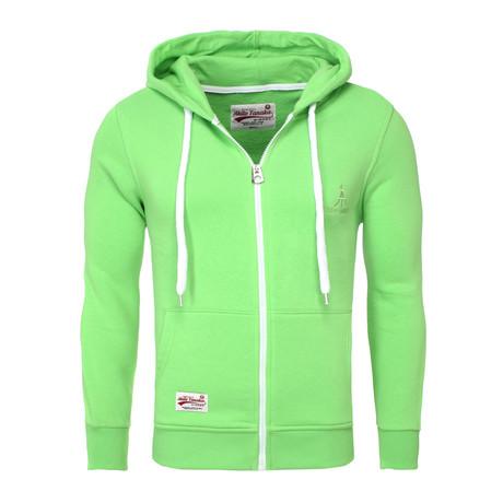 Zip Hoodie // Neon Green (S)