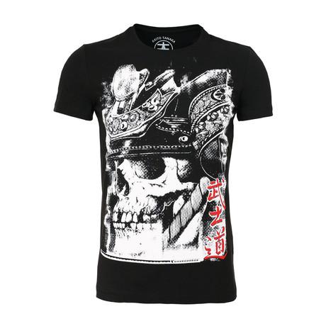 Skull T-Shirt // Black + White (S)