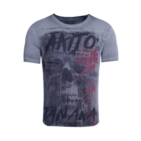 Fight For Skull T-Shirt // Anthracite (S)