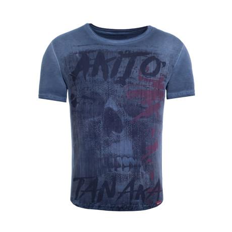 Fight For Skull T-Shirt // Navy (S)