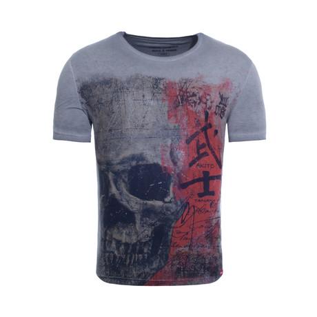 Japan Skull T-Shirt // Anthracite (S)