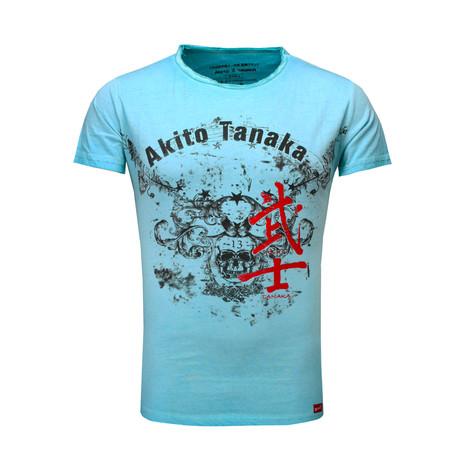 Skull Eagle T-Shirt // Turquoise (S)