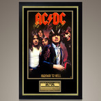 AC/DC // Band Signed Poster // Custom Frame