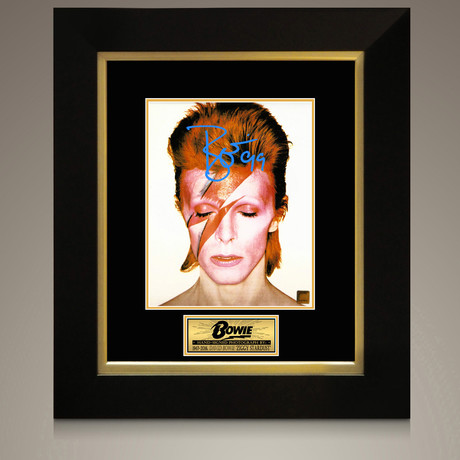 David Bowie // Signed Photo // Custom Frame