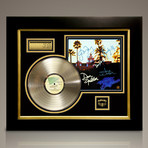 Eagles Hotel California // Signed 24K Gold Plated Record // Custom Frame
