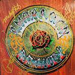 Grateful Dead American Beauty // Signed 24K Gold Plated Record // Custom Frame