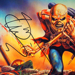 Iron Maiden The Trooper // Bruce Dickinson Signed Photo // Custom Frame