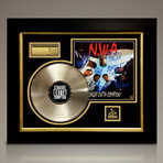 N.W.A Straight Outta Compton // Signed 24K Gold Plated Record // Custom Frame