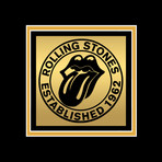 The Rolling Stones // Signed 24K Gold Plated Record // Custom Frame