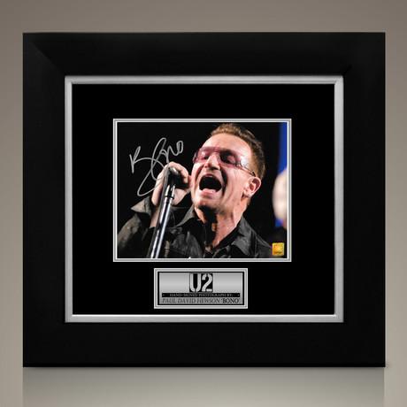 U2 Bono // Signed Photo // Custom Frame