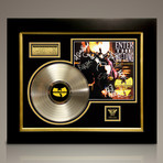 Wu-Tang Clan 36 Chambers // Signed 24K Gold Plated Record // Custom Frame