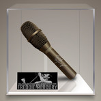 Freddy Mercury // Signed Vintage Microphone // Custom Museum Display (Signed Microphone Only)