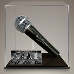 Paul McCartney // Signed Microphone // Custom Museum Display (Signed Microphone Only)