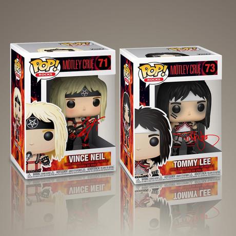 Motley Crue // Vince Neil + Tommy Lee Signed // Set of 2 Pops