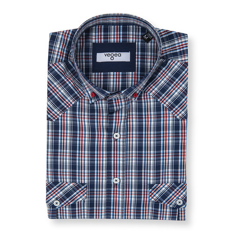 Maximinus Plaid Shirt // Blue + Red (XS)