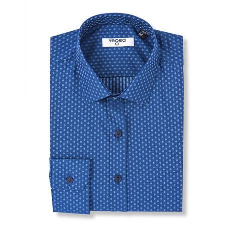 Otho Slim Fit Print Shirt // Blue (XS)