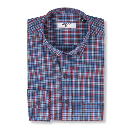 Aurelius Checked Shirt // Blue (XS)