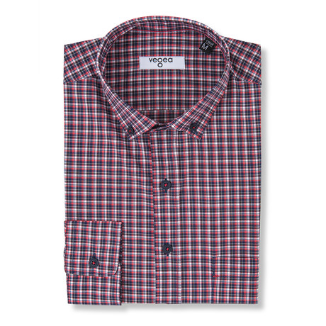 Lucius Checked Shirt // Red (XS)